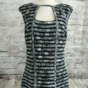 Cache Black & White Sheath Dress Women's Size 4